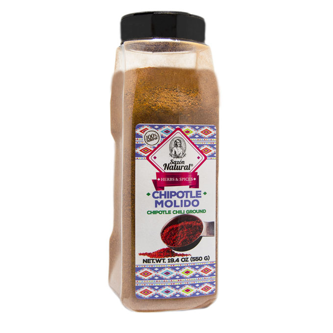 Chile chipotle molido 550g 550g Sazon natural