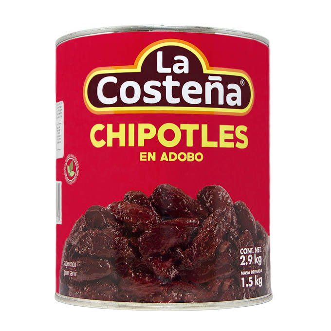 Chipotles Adobados 3kg 2,8 Kg La Costeña