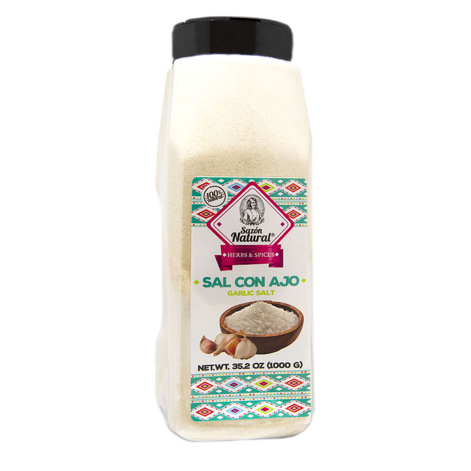 Sal con ajo 1kg 1kg Sazon natural